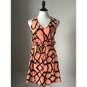 Cut-out Print Dress